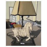 Granite Horse Lamp 30t x 16w