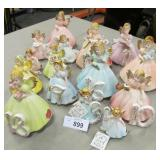 16x Josef Originals Birthday Angel Girl Figurines