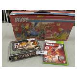 Vtg GI Joe Case. Pirate Kit & Xbox Game