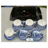 Churchill England Tea Set and Asian Platter