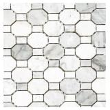 20x Crisp Illusion Limestone Mosaic Wall Tiles