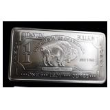 1oz Titanium Buffalo Bar