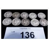 10x Silver US Mercury Dimes