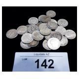29x Silver US Roosevelt Dimes