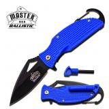 MASTER USA BALLISTIC BLUE NYLON FIBER KNIFE