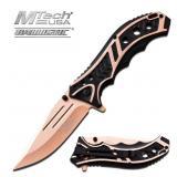 MTech USA BALLISTIC TAN & BLACK KNIFE