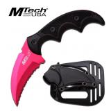 MTech USA PINK W G10 HANDLE KNIFE