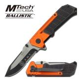 MTech USA BALLISTIC EMT ORANGE & BLACK KNIFE