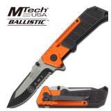 MTech USA BALLISTIC EMT ORANGE & BLACK KNIFE
