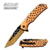 MTech USA BALLISTIC BLACK & GOLD KNIFE