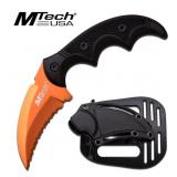 MTech USA BALLISTIC ORANGE G10 HANDLE KNIFE
