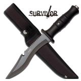 SURVIVOR 12IN OUTDOOR FIXED BLADE KNIFE