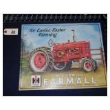 Farmall tractor tin sign