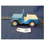 Tonka blue toy Jeep