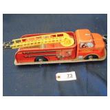 MARX toy metal fire truck - friction