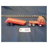 Tootsie Toys trailer and Tonka toy truck