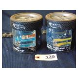 2 Hot wheels toy cars -