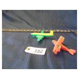 toy Jenny plastic airplane & toy green airplane
