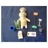 Assorted toys - 1971 Pillsbury Doughboy