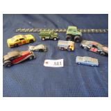 8 toy cars - mixed lot