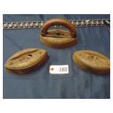 3 antique irons