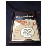 Budweiser mirror sign