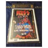 Metal Lithographed Art Kiss - I was there Alive
