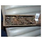 Kraft Wooden Cheese Box + Skeleton Keys