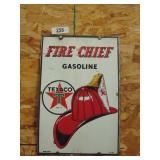 Texaco Firechief Gasoline sign - made in USA