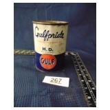 Gulf oil can (open, no lid)
