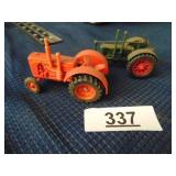 2 small tractors