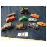 10 assorted toy cars