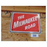 Milwaukee Road Sign - metal