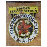 Chicago Motor Club AAA Bonded Service Station sign