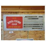Royal Cola metal menu sign