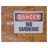 Danger No Smoking metal sign