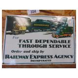 Railway Express Agency Inc. metal sign