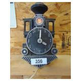 Train clock - lights up