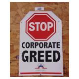 Stop Corporate Greed poster