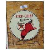 Texaco Fire-chief metal sign
