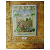 John Deere repro metal sign