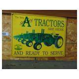John Deere repro metal sign - A series tractors