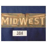 Midwest tin sign