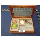mens dresser box with contents