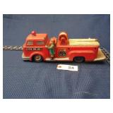 Tin battery operated fire truck