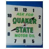 Quaker State Motor Oil Clock