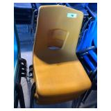 (3) Yellow Student Chairs