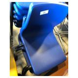 (2) Blue Student Chairs