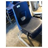 (3) Black Student Chairs
