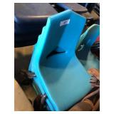 (4) Light Blue Student Chairs
